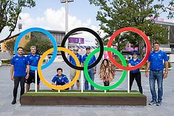 Team Israel, Vlock Teddy, Waldman Dani, R., Michan Alberto, Bond Ashlee, Dr. Amichai Alperovich, Horn Hans, Dubbeldam Jeroen, .. <br /> Olympic Games Tokyo 2021<br /> © Hippo Foto - Stefan Lafrentz<br /> 31/07/2021