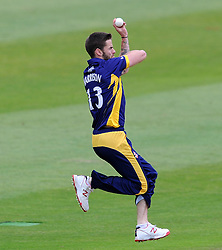 Durham's Jamie Harrison - Photo mandatory by-line: Harry Trump/JMP - Mobile: 07966 386802 - 29/07/15 - SPORT - CRICKET - Somerset v Durham - Royal London One Day Cup - The County Ground, Taunton, England.