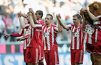 Fotball<br /> Tyskland<br /> 17.04.2011<br /> Foto: Witters/Digitalsport<br /> NORWAY ONLY<br /> <br /> Schlussjubel FC Bayern, Franck Ribery<br /> <br /> Bundesliga, FC Bayern München - Bayer 04 Leverkusen