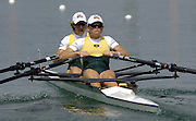 2005 FISA Rowing World Cup Munich,GERMANY. 18.06.2005; AUS W2X  Bow. Amber Bradley and Sally Kehoe.Photo  Peter Spurrier. .email images@intersport-images...[Mandatory Credit Peter Spurrier/ Intersport Images] Rowing Course, Olympic Regatta Rowing Course, Munich, GERMANY
