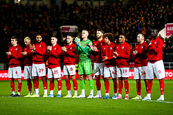 Bristol City players and fans take part in a minutes applause in tribute to the Afobe family following the passing of Benik Afobe's baby daughter Amora, aged 2 - Rogan/JMP - 10/12/2019 - Ashton Gate Stadium - Bristol, England - Bristol City v Milwall FC - Sky Bet Championship.