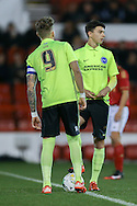 Brighton  kick off during the FA Youth Cup match between U18 Nottingham Forest and U18 Brighton at the City Ground, Nottingham, England on 10 December 2015. Photo by Simon Davies.