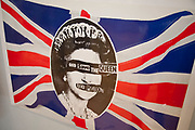 London, UK. Friday 23rd November 2012. Christies auction house showcasing memorabilia from every decade of the past century of popular culture from the industries of film and music. Original Sex Pistols print. God Save The Queen.