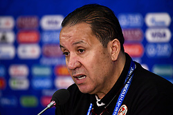 June 22, 2018 - Moscow, RUSSIA - Tunesia's Head Coach Nabil Maaloul pictured during a press conference of Tunisian national soccer team in the Spartak stadium, in Moscow, Russia, Friday 22 June 2018. The team is preparing for their second game against Belgium tomorrow at the FIFA World Cup 2018. BELGA PHOTO DIRK WAEM (Credit Image: © Dirk Waem/Belga via ZUMA Press)