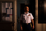 LTC Keith Brace, 4th Battalion and Tango Company's TAC Officer, poses for a portrait in Watts Barracks at The Citadel in Charleston, South Carolina on Friday, March 5, 2021. (Photo by Cameron Pollack / The Citadel)