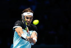 21-11-2015 GBR: ATP Tennis Tour Finals day 7, London<br /> Novak Djokovic (SRB) defeats Rafael Nadal (ESP) (photo) in semi-finals match by a score of 6-3, 6-3 during Day Seven Barclays ATP World Tour Finals from the O2 Arena<br /> <br /> <br /> ***NETHERLANDS ONLY***