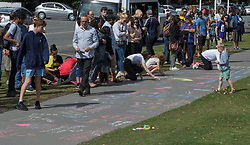 March 16, 2019 - Christchurch, New Zealand - Flowers and message besides the Botanic Gardens, Rolleston Avenue after shooting incidents at the Linwood Islamic Centre, Linwood Avenue and the Mosque in Deans Avenue , Christchurch, New Zealand, March 16, 2019.. (Credit Image: © David Alexander/SNPA/ZUMAPRESS.com)