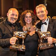 NLD/Utrecht/20181005 - L'OR Gouden Kalveren Gala 2018, Het Gouden Kalf wordt gewonnen door Bankier van het Verzet