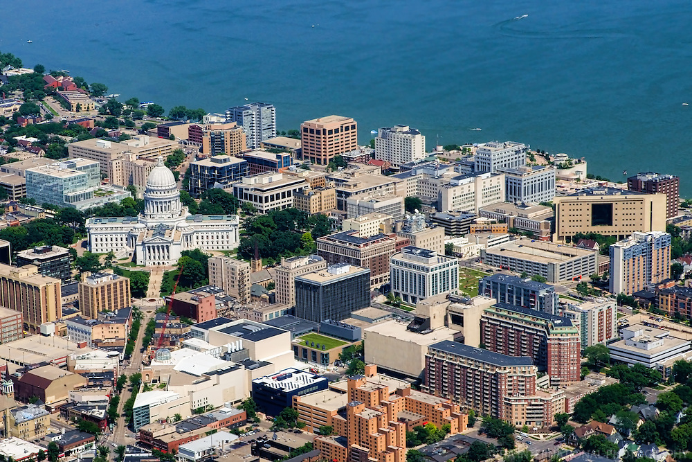 Wisconsin State Capitol & Downtown Madison
