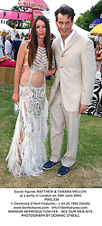 Social figures MATTHEW & TAMARA MELLON at a party in London on 16th June 2004.<br /> PWG 338