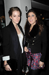 Left to right, sisters LADY LUCY ALEXANDER and LADY ROSE ALEXANDER at the premier of Tenacity on the Tasman at the Odeon Leicester Square, London on 19th November 2009.