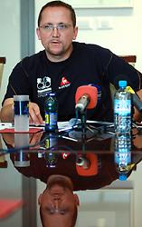 Martin Hvastija, coach of Slovenian National Cycling team at press conference before World Championship 2008 in Varese (ITA), on September 19, 2008, in Ljubljana, Slovenia. (Photo by: Vid Ponikvar / Sportal Images)./ Sportida)