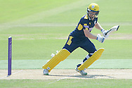 Hampshire wicket keeper-batsman Adam Wheater batting during the Royal London One Day Cup match between Hampshire County Cricket Club and Essex County Cricket Club at the Ageas Bowl, Southampton, United Kingdom on 5 June 2016. Photo by David Vokes.