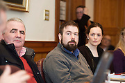 Repro FREE :  Cllr Tomas Welby, Cllr Tom Healy Clifden and Cllr Niamh Byrne at the launch of Connemara West's  ambitious International Residential Education Centre at a briefing in the Hotel Meyrick, Galway . The Centre, in the village of Tullycross, County Galway will consist of a state-of-art newly built education hub with a 50 seat auditorium; a wifi-enabled library; group study/breakout rooms; video conferencing facilities; meeting rooms; a conference room; community meeting rooms and a coffee dock. <br /> The accommodation part of the Centre will be made up of the renovated iconic 9 thatched cottages in Tullycross village, Connemara West's first project in 1973, and will hold up to 40 students and faculty.<br /> Photo:Andrew Downes, xposure