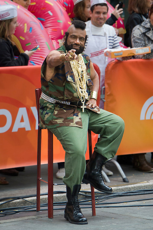 """Al Roker as Mr. T's B.A. Baracus from the popular '80s show """"The A-Team"""" during the annual Halloween Episode of NBC's The Today Show in New York City."""