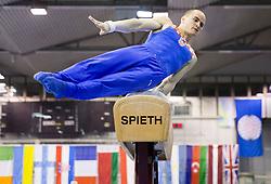 Filip Ude of Croatia competes in the Pommel Horse during Final day 1 of Artistic Gymnastics World Challenge Cup Ljubljana, on April 19, 2014 in Hala Tivoli, Ljubljana, Slovenia. Photo by Vid Ponikvar / Sportida