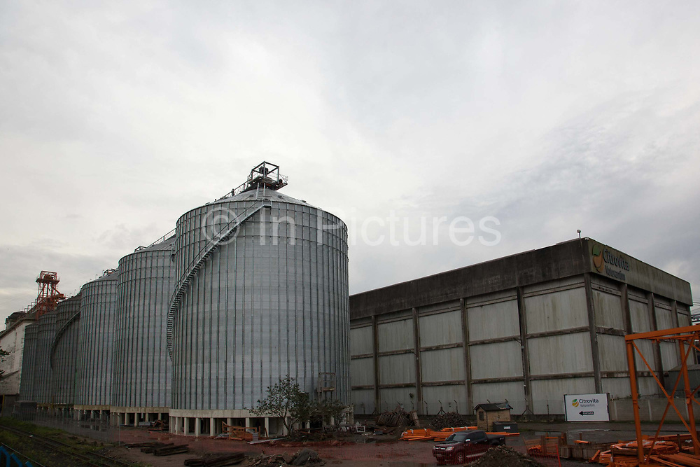 Grain and agricultural product storage at Santos Port, Sao Paulo State, Santos is the largest port in Latin America, receving millions of tonnes of good every year