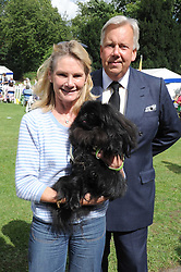 LADY MARY-GAYE CURZON and her dog Poppet and DAVID McDONOUGH at the Macmillan Dog Day in aid of Macmillan Cancer Support held at the Royal Hospital Chelsea, London on 8th July 2008.<br />