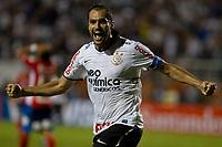 20120307: SAO PAULO, BRAZIL - Player Danilo celebrates goal during Corinthians (Brasil) vs Nacional (Paraguai) for Copa Libertadores held at Pacaembu stadium in SP<br /> PHOTO: CITYFILES
