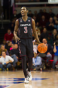 DALLAS, TX - JANUARY 04:  Shizz Alston Jr. #3 of the Temple Owls brings the ball up court against the SMU Mustangs during a basketball game on January 4, 2017 at Moody Coliseum in Dallas, Texas.  (Photo by Cooper Neill/Getty Images) *** Local Caption *** Shizz Alston Jr.