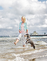 Dog Society Founder Tanya Hynes with Winston at St Kilda Beach and Republica Cafe. Photo By Craig Sillitoe. ..MAY BE ARCHIVED AND USED ONLY FOR EDITORIAL PURPOSES RELATING 'DOG SOCIETY' AND TANYA HYNES. For all other purposes contact Craig Sillitoe Photography, craig@csillitoe.com Ph 61-419-345162 This photograph can be used for non commercial uses with attribution. Credit: Craig Sillitoe Photography / http://www.csillitoe.com<br /> <br /> It is protected under the Creative Commons Attribution-NonCommercial-ShareAlike 4.0 International License. To view a copy of this license, visit http://creativecommons.org/licenses/by-nc-sa/4.0/.
