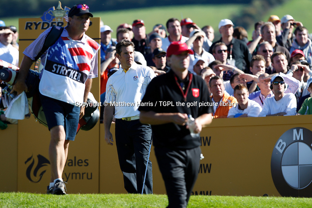 Lee WESTWOOD (EUR) lost to Steve STRICKER (USA) 2 and 1 Session Four_Singles during Ryder Cup Matches 2010,Celtic Manor,Newport,Wales.