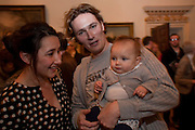 KATY CARTRIGHT; RUFUS CARTRIGHT; CLEMENTINE CARTRIGHT, No New Thing Under the Sun. Royal Academy. Piccadilly. London. 20 OCTOBER 2010. -DO NOT ARCHIVE-© Copyright Photograph by Dafydd Jones. 248 Clapham Rd. London SW9 0PZ. Tel 0207 820 0771. www.dafjones.com.