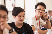 SAN FRANCISCO, CA – SEPTEMBER 2, 2015: College students in the class of 2019 participate in orientation at Minerva.<br /> <br /> Minerva is a unique 21st century university built on a global four-year education model. It is deliberately designed to enhance intellectual growth and prepare students for success in today's rapidly changing global context. Founded in 2014, the university targets the developing world's rising middle class who seek an elite American education. With a 2.8% acceptance rate among the founding class, Minerva is the most selective undergraduate program in U.S. history.