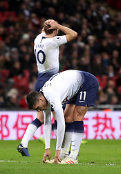 Tottenham Hotspur's Erik Lamela rues a missed chance