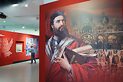 """Linz, Austria. Schlossmuseum (Castle Museum).<br /> Marco Polo exposition """"Von Venedig nach China (From Venice to China)""""."""