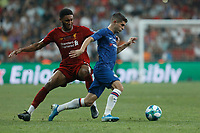 ISTANBUL, TURKEY - AUGUST 14: Joe Gomez (L) of Liverpool and Christian Pulisic of Chelsea vie for the ball during the UEFA Super Cup match between Liverpool and Chelsea at Vodafone Park on August 14, 2019 in Istanbul, Turkey. (Photo by MB Media/Getty Images)