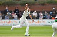 Craig Overton of Somerset appeals for a wicket which is given not out during the Specsavers County Champ Div 1 match between Somerset County Cricket Club and Worcestershire County Cricket Club at the Cooper Associates County Ground, Taunton, United Kingdom on 22 April 2018. Picture by Graham Hunt.