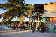 The Split, Caye Caulker island in the afternoon light, Belize.