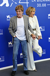"""74th Venice Film Festival 2017 Photocall film """"Our souls at night"""" Pictured: Robert Redford, Jane Fonda"""