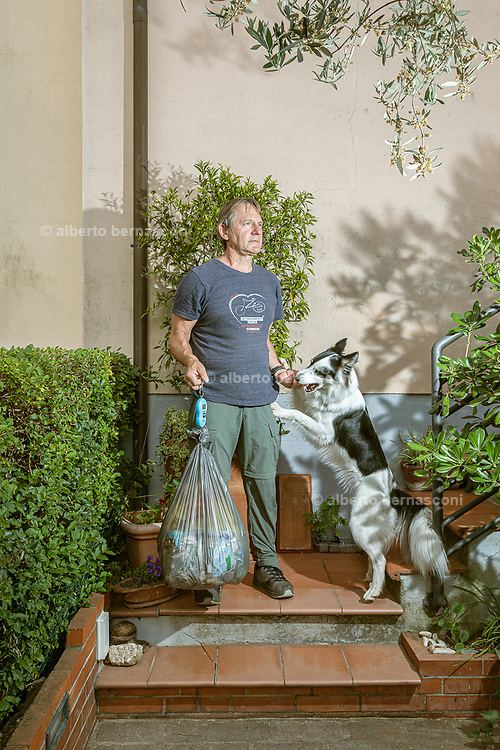 CAPANNORI, Tuscany, Pier Felice Ferri is part of the zero waste project. waste consumption is constantly monitored; the correct recycling of waste and a limited production of non-recyclable, black waste, contributes to a reduction of the waste tax