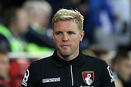 AFC Bournemouth manager Eddie Howe. Capital One Cup, 3rd round match, Cardiff City v AFC Bournemouth at the Cardiff City stadium in Cardiff, South Wales on Tuesday 23rd Sept 2014<br /> pic by Mark Hawkins, Andrew Orchard sports photography.