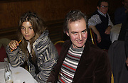 Scarlett Strutt and Hugh St. Clair. Charity Quiz night for Rapt ( Rehabilitation of Addicted Prisoners Trust) Town Hall. Hammersmith. 14  November 2005 . ONE TIME USE ONLY - DO NOT ARCHIVE © Copyright Photograph by Dafydd Jones 66 Stockwell Park Rd. London SW9 0DA Tel 020 7733 0108 www.dafjones.com