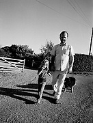 Radio DJ John Peel at home with family 1986