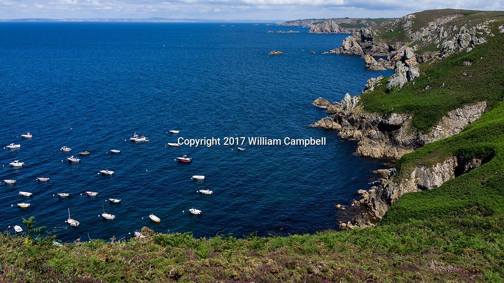 The coast near Pointe du Raz Plogoff, Brittany,France