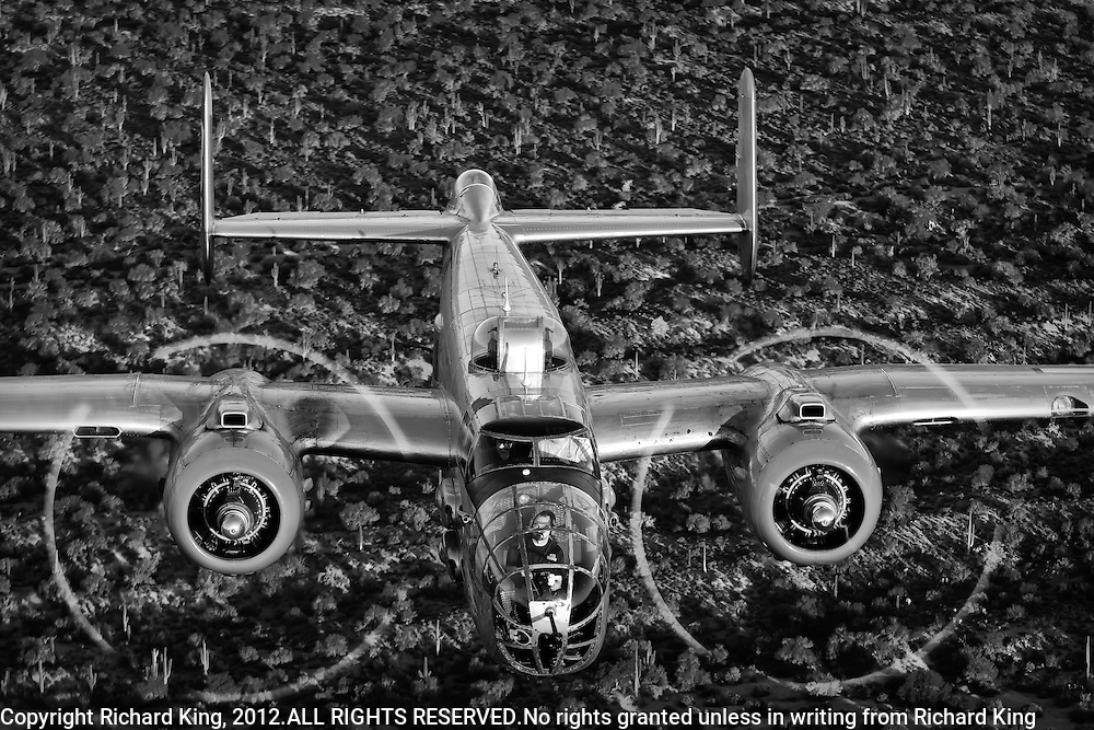 Black and White Photographic Image of B-25 WWII Bomber