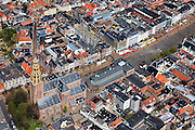 Nederland, Groningen, Groningen, 01-05-2013;<br /> Groningen-stad, centrum. Vismarkt met Der Aa-kerk en De Korenbeurs.<br /> Detailed view on the city of Groningen, old town. Der Aa-kerk (church).<br /> luchtfoto (toeslag op standard tarieven)<br /> aerial photo (additional fee required)<br /> copyright foto/photo Siebe Swart