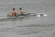 Amsterdam, HOLLAND, GBR LW2X Bow  Helen CASEY and Hester GOODSELL,  during their semi final, at the 2007 FISA World Cup Rd 2 at the Bosbaan Regatta Rowing Course. 23.06.2007[Mandatory Credit: Peter Spurrier/Intersport-images]..... , Rowing Course: Bosbaan Rowing Course, Amsterdam, NETHERLANDS