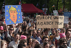 May 24, 2017 - Brussels, Belgium - An overview of the march against Trump in Brussels. (Credit Image: © Frederik Sadones/Pacific Press via ZUMA Wire)
