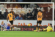 Hull City striker Abel Hernandez scores to go 1 all during the Sky Bet Championship match between Hull City and Reading at the KC Stadium, Kingston upon Hull, England on 16 December 2015. Photo by Ian Lyall.