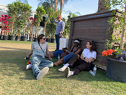 Brooklyn Beckham backstage with his girlfriend at Coachella day 3. 14 Apr 2019 Pictured: brooklyn beckham. Photo credit: Snorlax / MEGA TheMegaAgency.com +1 888 505 6342