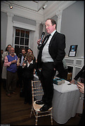JAMES NAUGHTIE, James Naughtie: The Madness of July published by Head of Zeus - book launch party, ICA, London. 25 February 2014.