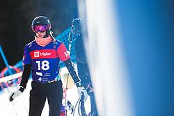 Natalia Soboleva (RUS) during parallel slalom FIS Snowboard Alpine World Championships 2021 on March 2nd 2021 on Rogla, Slovenia. Photo by Grega Valancic / Sportida