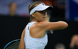November 10, 2018 - Prague, Czech Republic - Sofia Kenin of the United States in action at the 2018 Fed Cup Final between the Czech Republic and the United States of America (Credit Image: © AFP7 via ZUMA Wire)