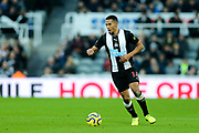 Isaac Hayden (#14) of Newcastle United on the ball during the Premier League match between Newcastle United and Crystal Palace at St. James's Park, Newcastle, England on 21 December 2019.