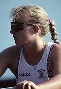 Barcelona, SPAIN.  GBR W8+, . Katharine BROWNLOW,  1992 Olympic Rowing Regatta Lake Banyoles, Catalonia [Mandatory Credit Peter Spurrier/ Intersport Images]